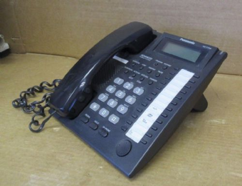 Panasonic KX-T7735 Black Advanced Hybrid Proprietary Telephone LCD with Stand